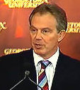 UK Prime Minister Tony Blair at Georgetown University