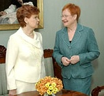 Presidents Vike-Freiberga and Halonen